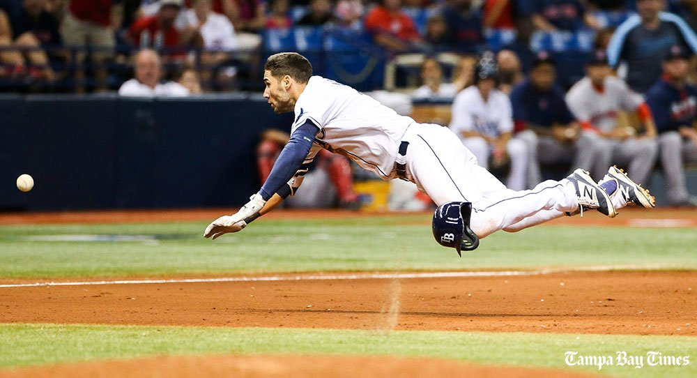 Two throws from right field biggest difference in Rays' loss.  #Rays @RaysBaseball #RedSox