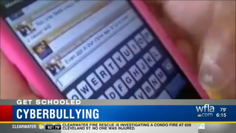 My story today -- Pinellas Schools combat cyberbullying through anonymous reporting.