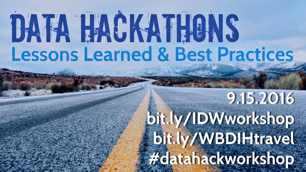 Join us for the first-ever International Data Week! #datahackworkshop #bigdata #BDHubs