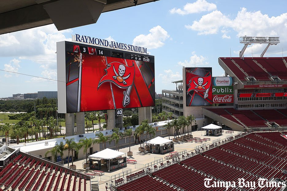Video: Check out the new scoreboard, upgrades at Raymond James Stadium.  #Bucs @TBBuccaneers
