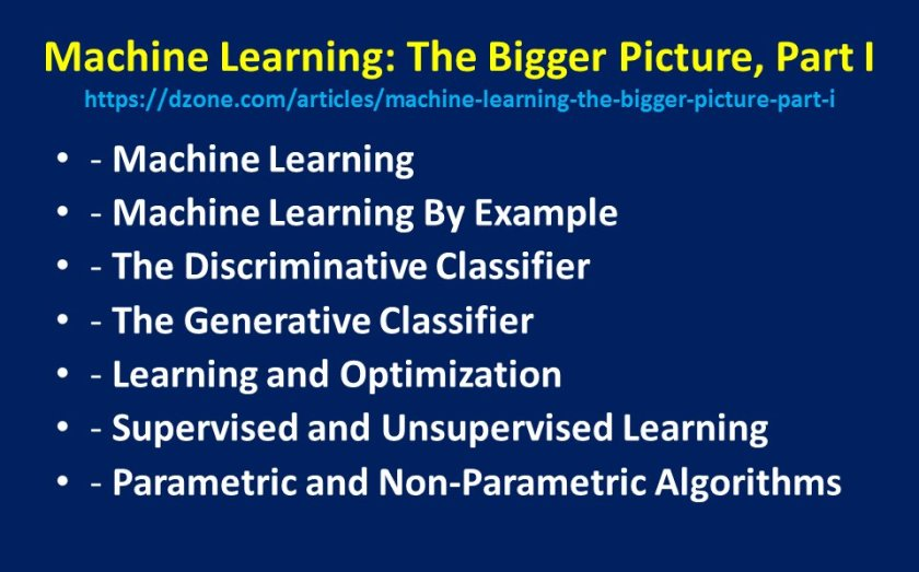 #MachineLearning - The Bigger Picture:  #abdsc #BigData #DataScience by @Dzone
