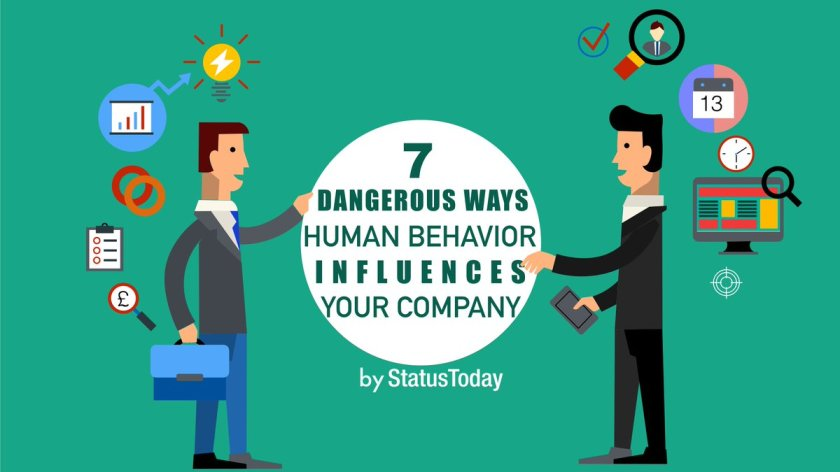 Discover 7 dangerous ways #human behaviour influences your company  #infographic #AI