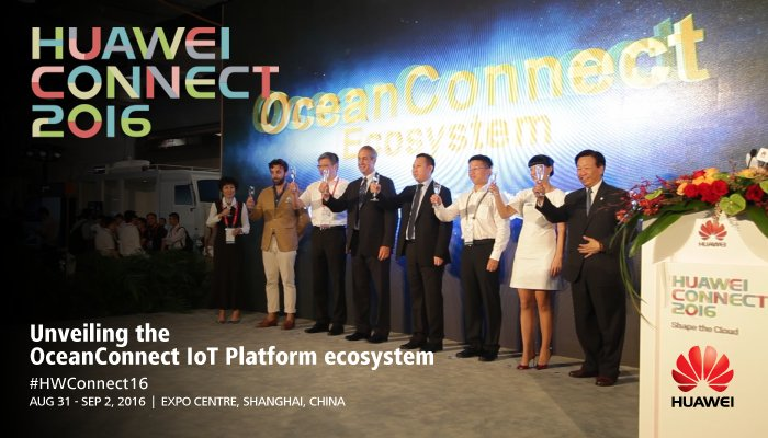 Huawei unveils the new #IoT #OceanConnect #ecosystem - Live at #HWConnect16