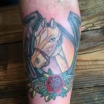 Paul Amanda On Twitter Palomino Tattoo On The Other Arm Paulzenk Horses Palomino Horseshoetattoo Horseshoe Pdxtattoo Portlandtattoo