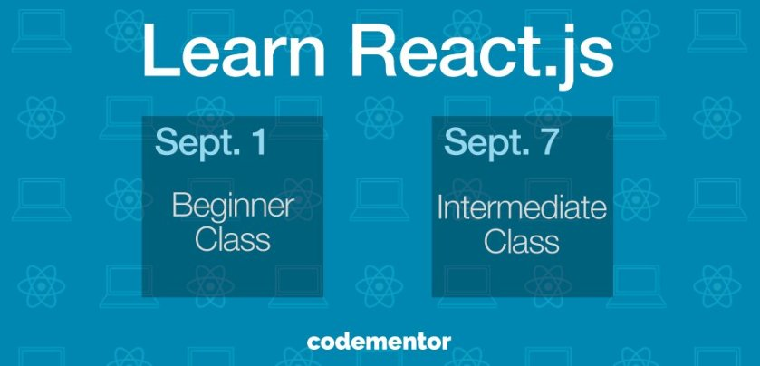 #React Class for Beginners Starts Tomorrow! Enroll now:  #javascript #reactjs #learnreact