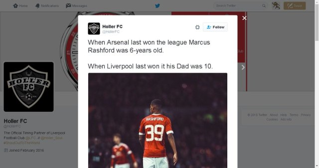Liverpool Sponsor Trolls Club Over Lack Of Silverware With Marcus Rashford Tweet Off The Post