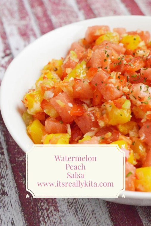 You´re going to love this Watermelon Peach Salsa this Summer!