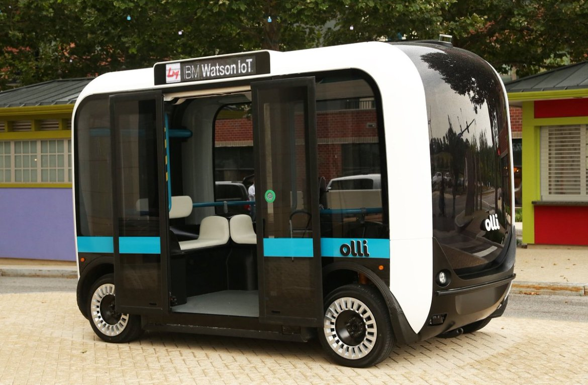 Learn more about Olli, the 3-D printed self-driving minibus 🚐 that taps the IBM #WatsonIOT: