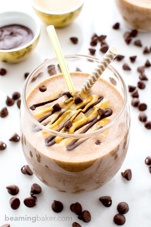 Perfect post-workout drink. Chocolate PB Banana @BeamingBaker