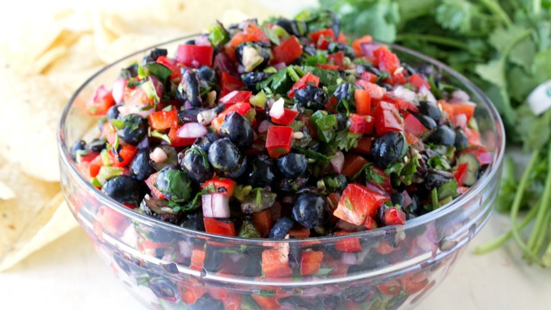 Switch things up with Blueberry and Red Bell Pepper Salsa