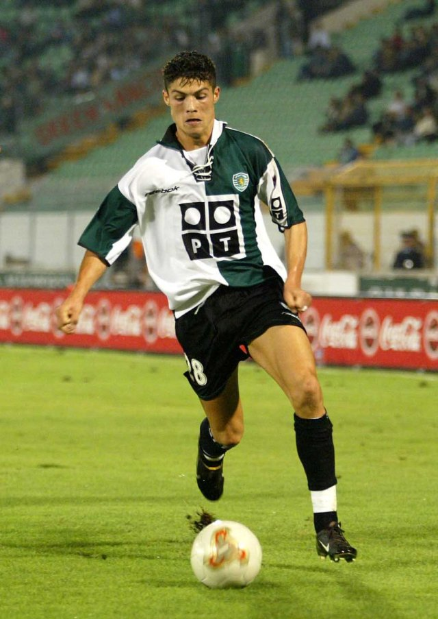 Cristiano Ronaldo First Game For Sporting Lisbon