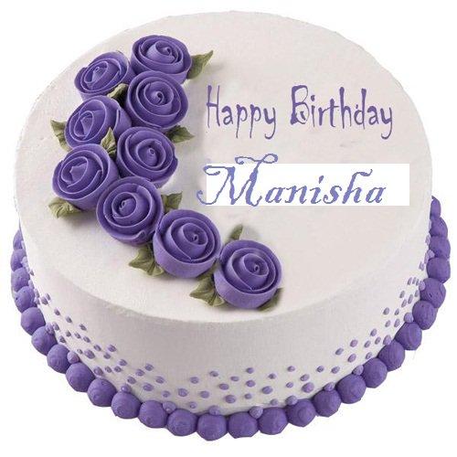 Birthday Cake Image Name Manisha The Best Cake Of 2018