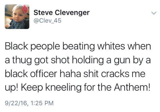 Steve Clevenger Tweet 1