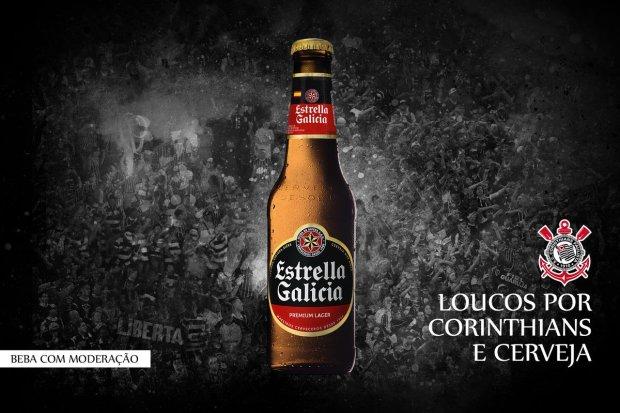 Resultado de imagem para camisa do corinthians Estrella Galicia