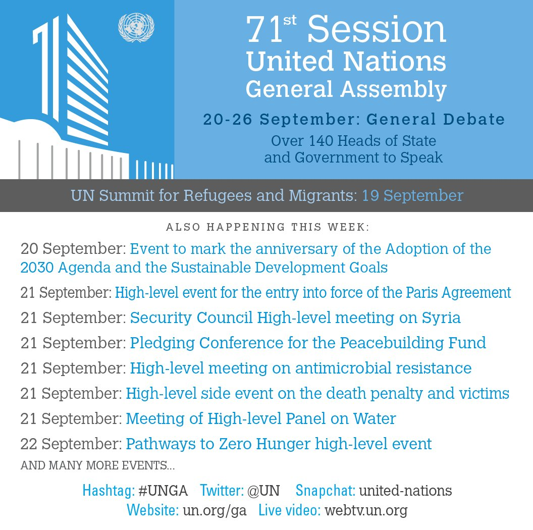promo code 24d24 c4e73 Coming up at the  UNGA on Tuesday