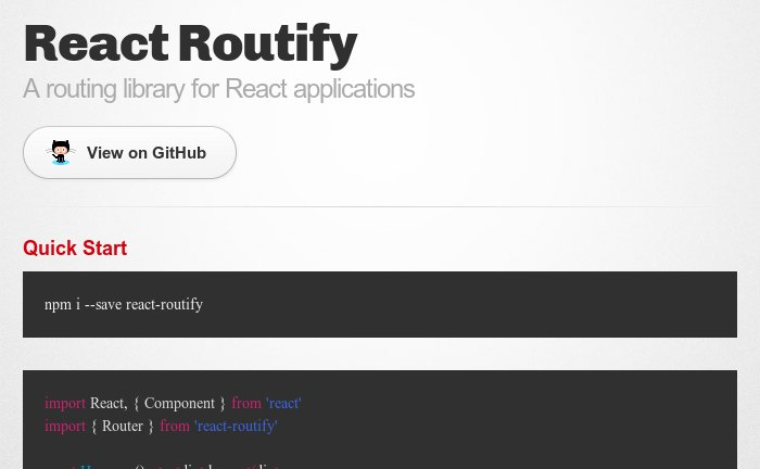 React Routify  A routing library for #ReactJS applications  #NodeJS