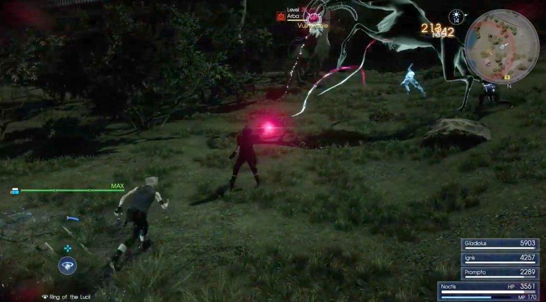 Final Fantasy XV Death Spell Gameplay 1