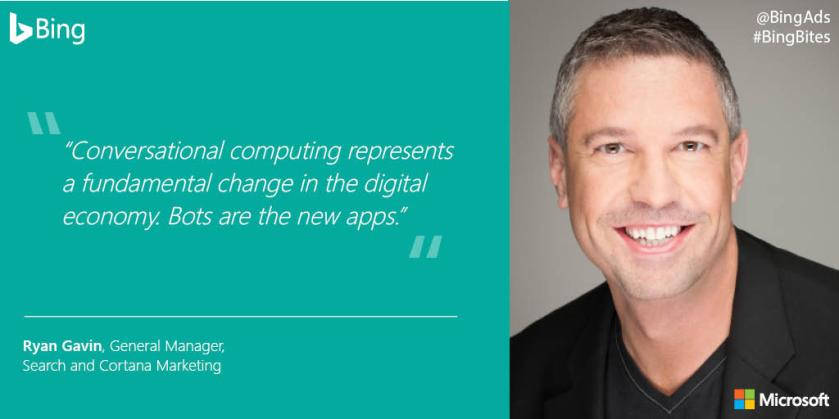 On now for marketers,  #AI and the future of search  #AWNewYork #BingBites #BingThere