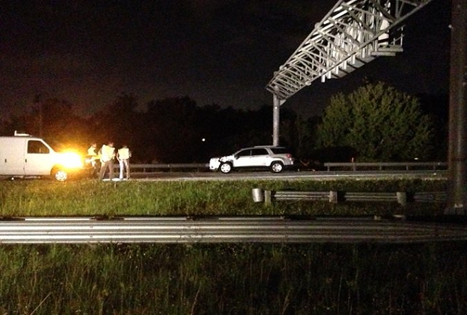 Person killed early Friday after being struck by vehicle along SB Interstate 75 in Tampa.