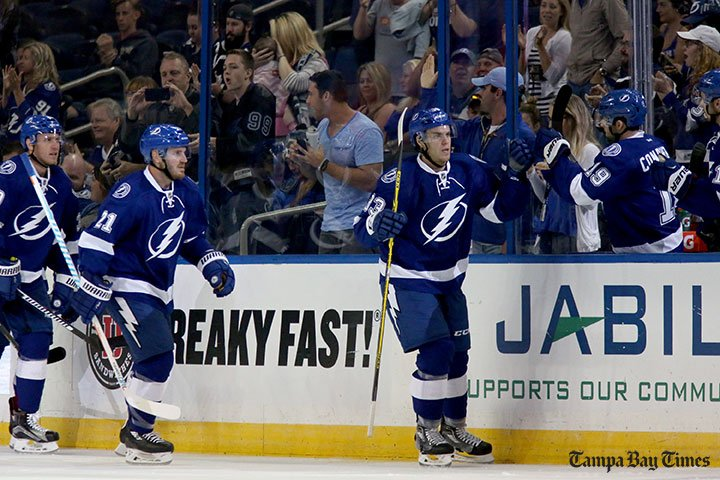 Jeremy Morin makes good first impression on Lightning.  #TBLightning @TBLightning @jmorin91