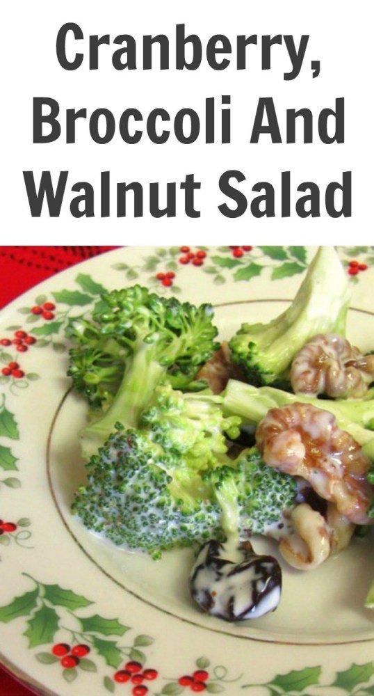 Cranberry, Broccoli And Walnut Salad -