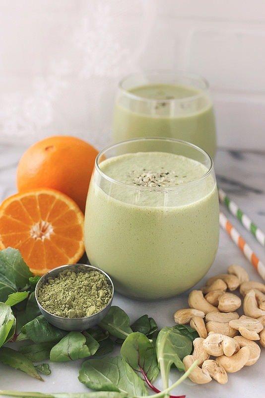 AgeproofLiving: Orange Matcha Smoothie