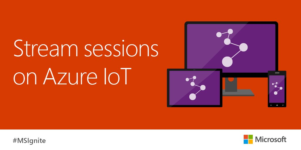 Gain real time & predictive insights on your #IoT. Watch now on-demand from #MSIgnite: