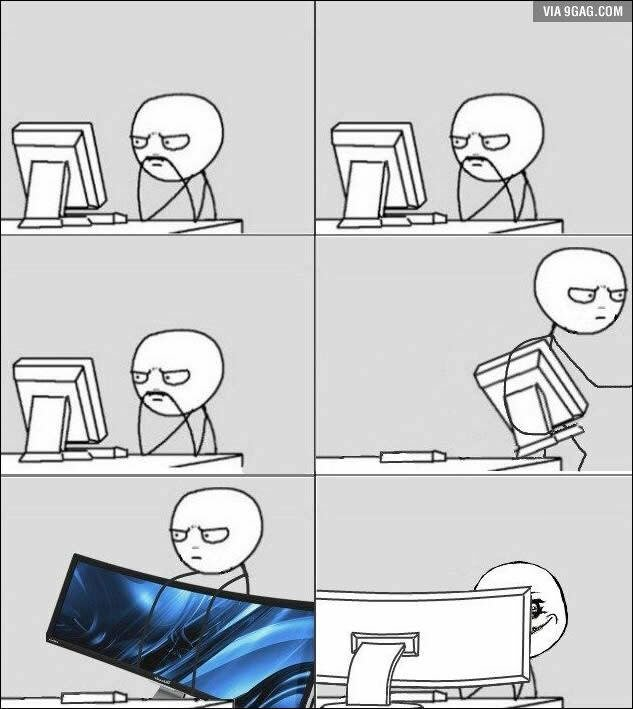 9gag On Twitter When Upgrading To A High End Monitor Https T