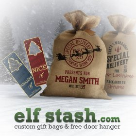 Create custom burlap gift bags at christmas diy giftguide