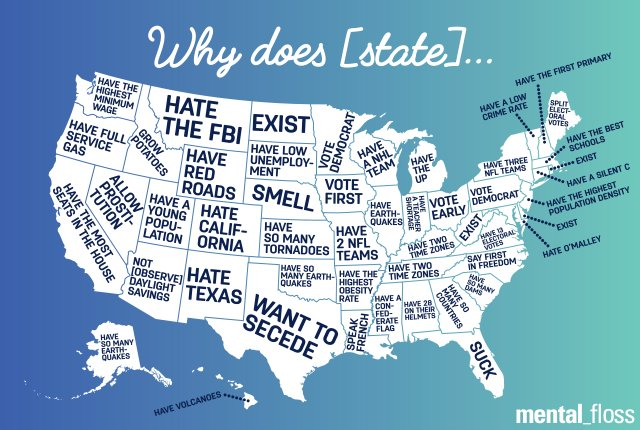 What People Are Wondering About Your State, According to Google:  #bigdata