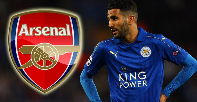Image result for Leicester Riyad Mahrez has no regrets over failed Arsenal move