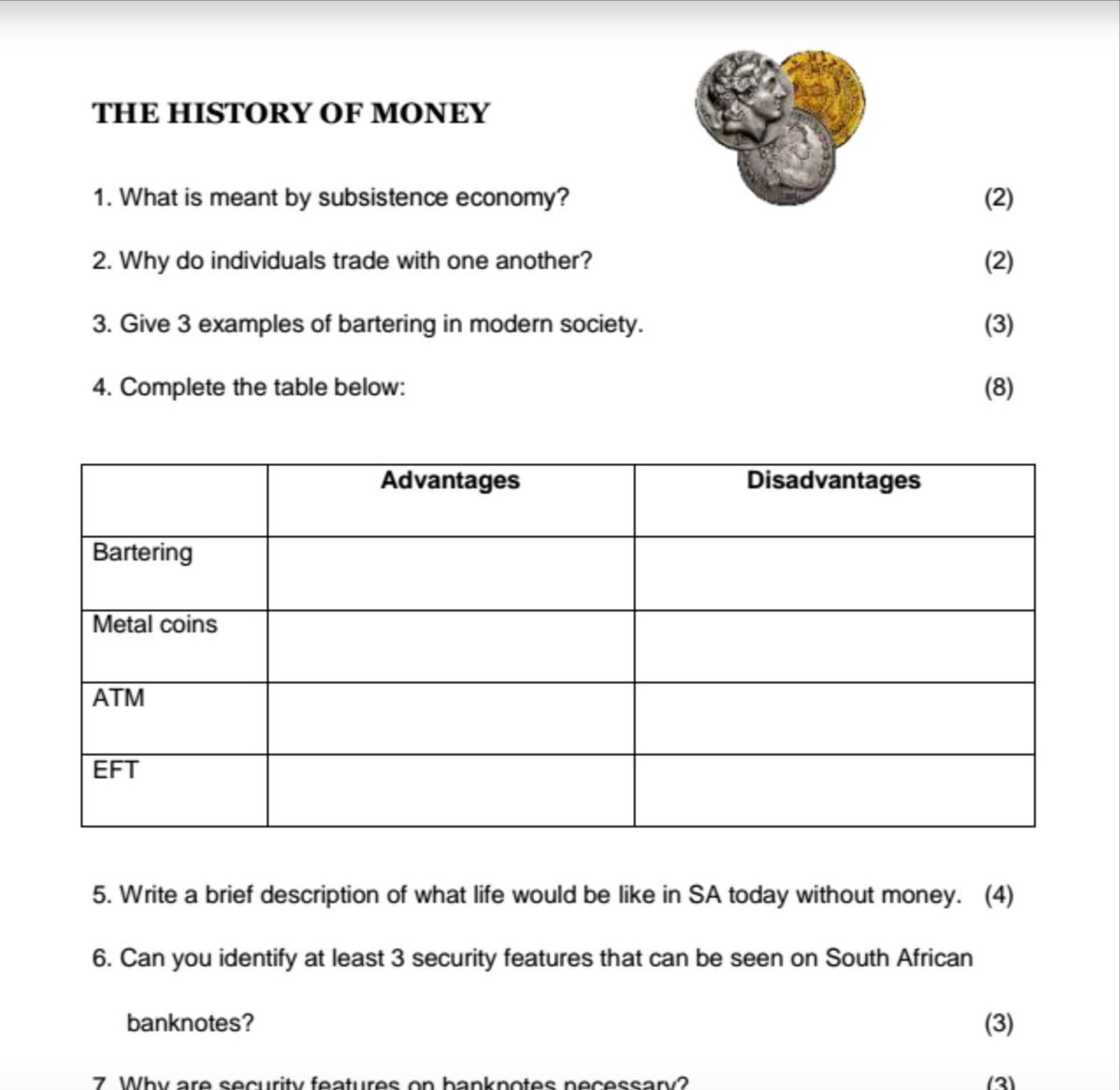 Nolwazi Oers On Twitter Great Worksheet On History Of