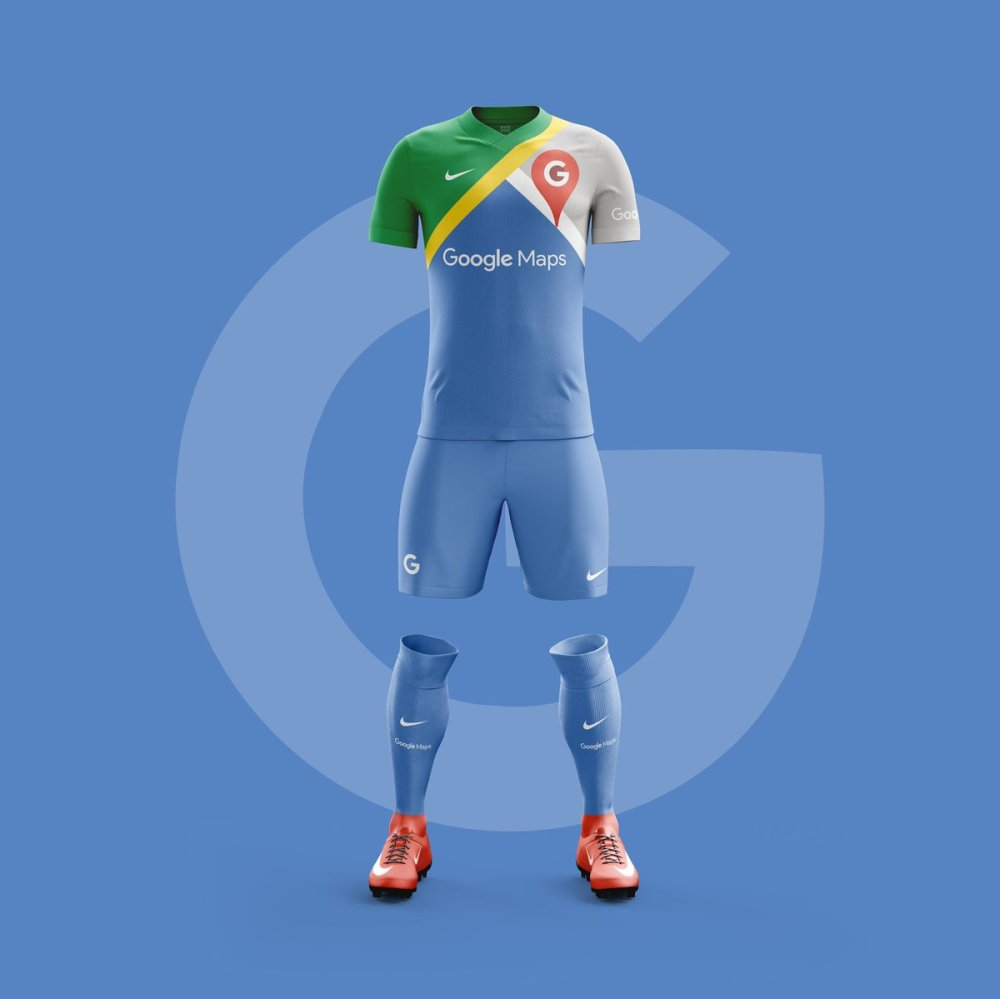 Uniforme de Futbol Google Maps.