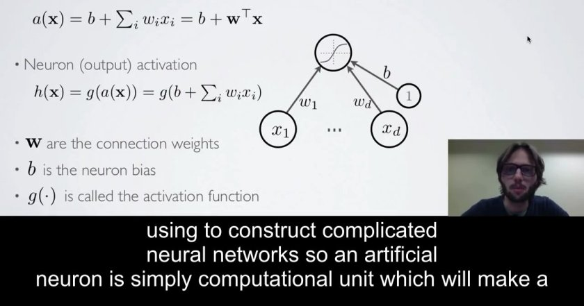 .@hugo_larochelle #NeuralNetwork & #DeepLearning tutorial videos, subtitled & screengrabbed
