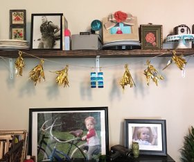 Have a MylarBalloon floating around?Turn it into a banner!diy craft HobbyLobby