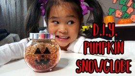 DIY Pumpkin Snow Globe! DIY Pumpkin Snowglobe: diy snowglobe craft halloween kidcrafts