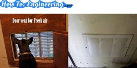 Door vent for fresh airdiy vent modify freshair fresh