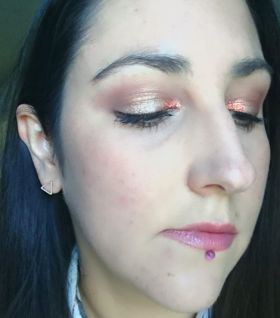 Recent makeupoftheday with a hint of copper glitter bbloggers beauty makeup MOTD FOTD