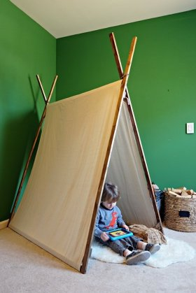 Make your own play tent! diy kids parenting