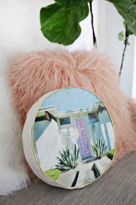 Palm Springs Photo Pillow DIY PSILoveYou