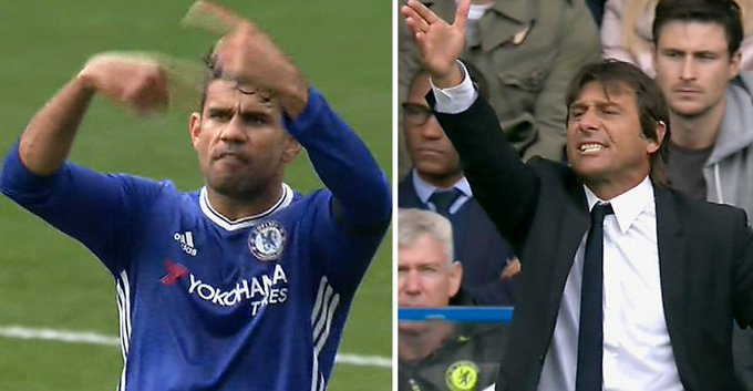 Image result for Costa warned to show respect to Chelsea boss Conte – reports