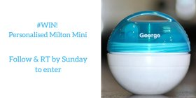 Want to win a personalised Milton_baby Mini Soother Steriliser? F+RT by Sun to enter! T&Cs