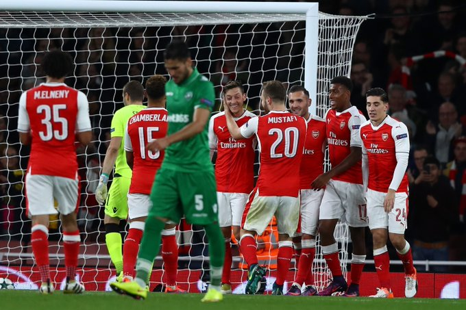 Image result for Arsenal 'flying with confidence' after UCL thrashing of Ludogorets – Walcott