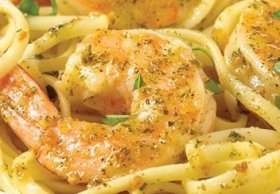 Easy Garlic Shrimp Linguine