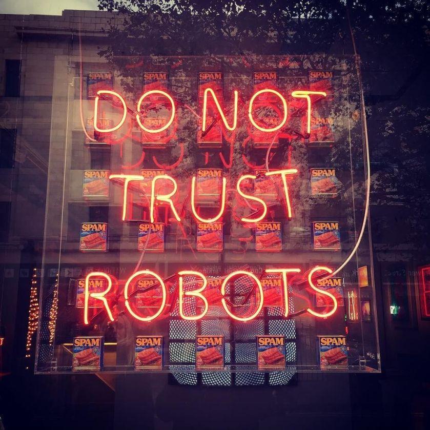 Wise words. #singularity #skynet #ai #gameover #window #windowdisplay #spam #art #london #…