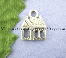 House Charm Pendants! Cute House Charm diy charms jewelrysupply jewelrymaking