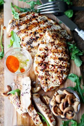 18 minutes - and dinner is served!Easy Grilled Chicken With Hot And Sweet Sauce ://