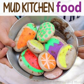 Make your own food . out of rocks! LINK: kbn ece kids diy