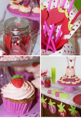 I loved doing this Strawberry Themed Party!kids party DIY