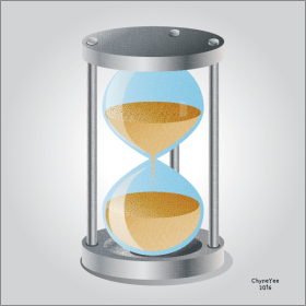 Hourglass Icon illustration tutorial